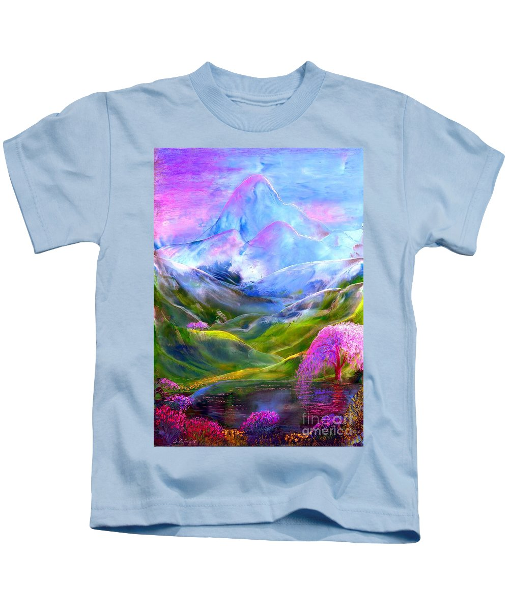 Mountain Kids T-Shirt featuring the painting Blue Mountain Pool by Jane Small
