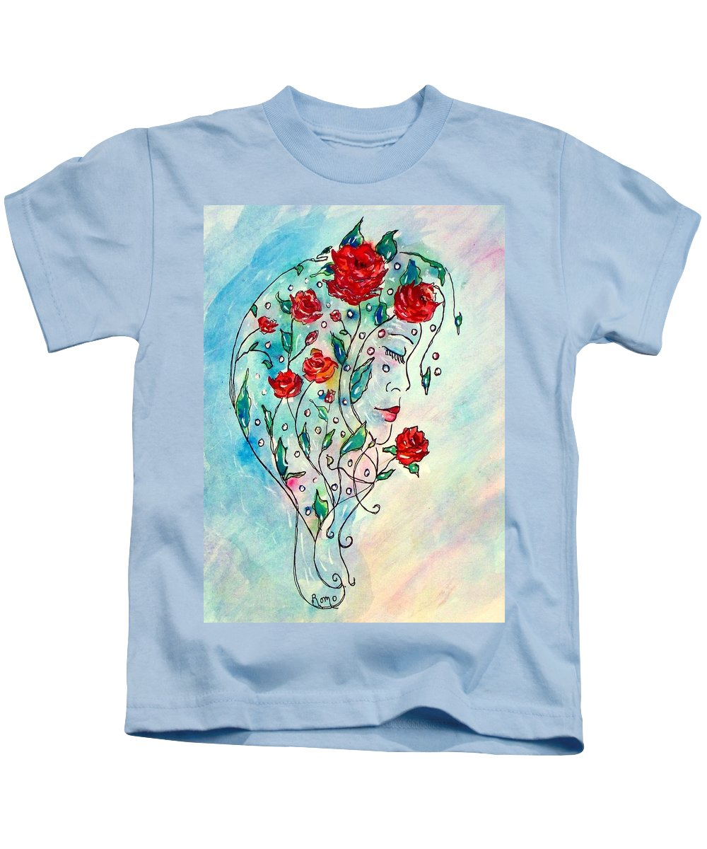 Bouquet Kids T-Shirt featuring the painting Bouquet Of Love by Robin Monroe