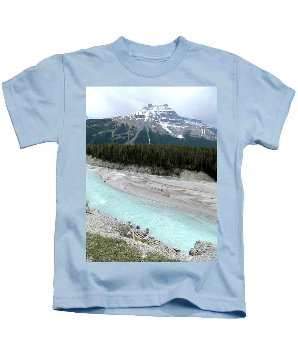 Bow River Kids T-Shirt featuring the photograph Bow River by Laurie Paci