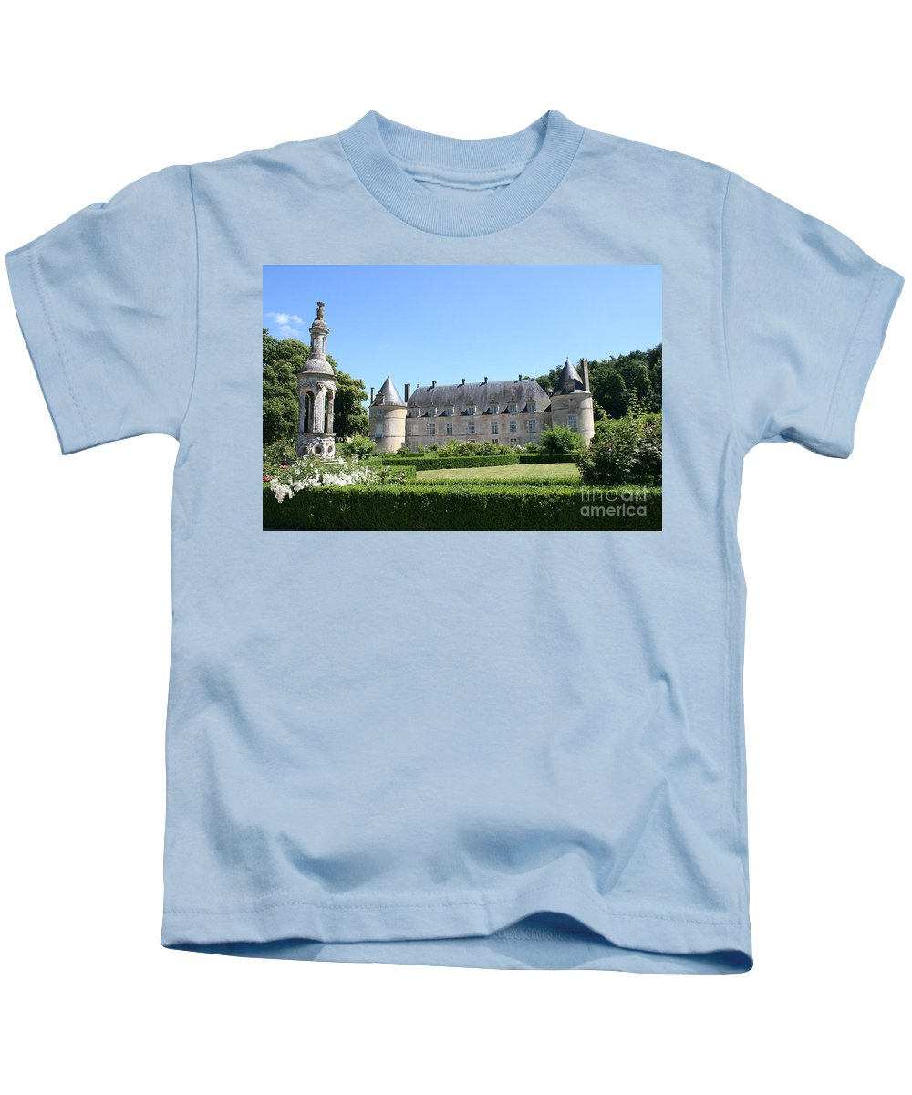 Palace Kids T-Shirt featuring the photograph Bussy - Rabutin Palace Garden by Christiane Schulze Art And Photography