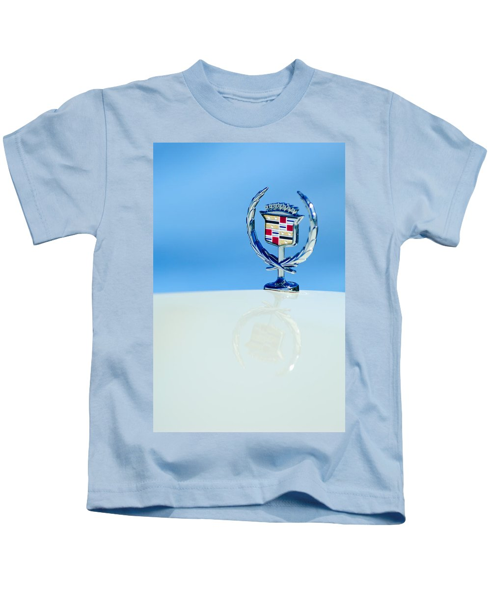 Cadillac Hood Ornament Kids T-Shirt featuring the photograph Cadillac Hood Ornament 4 by Jill Reger