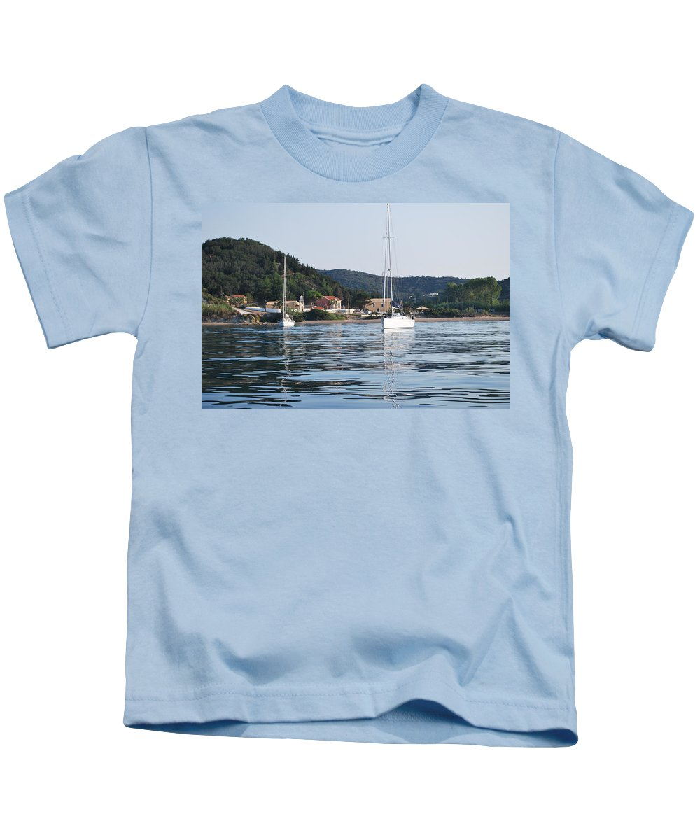Seascape Kids T-Shirt featuring the photograph Calm Sea 2 by George Katechis