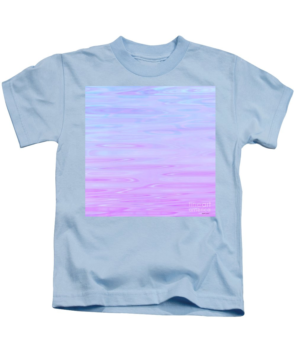 Calm Waters Daydream Kids T-Shirt featuring the digital art Calm Waters Daydream by Elizabeth McTaggart