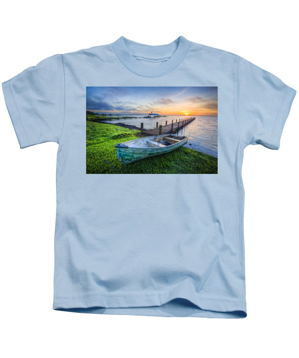 Boats Kids T-Shirt featuring the photograph Calypso by Debra and Dave Vanderlaan