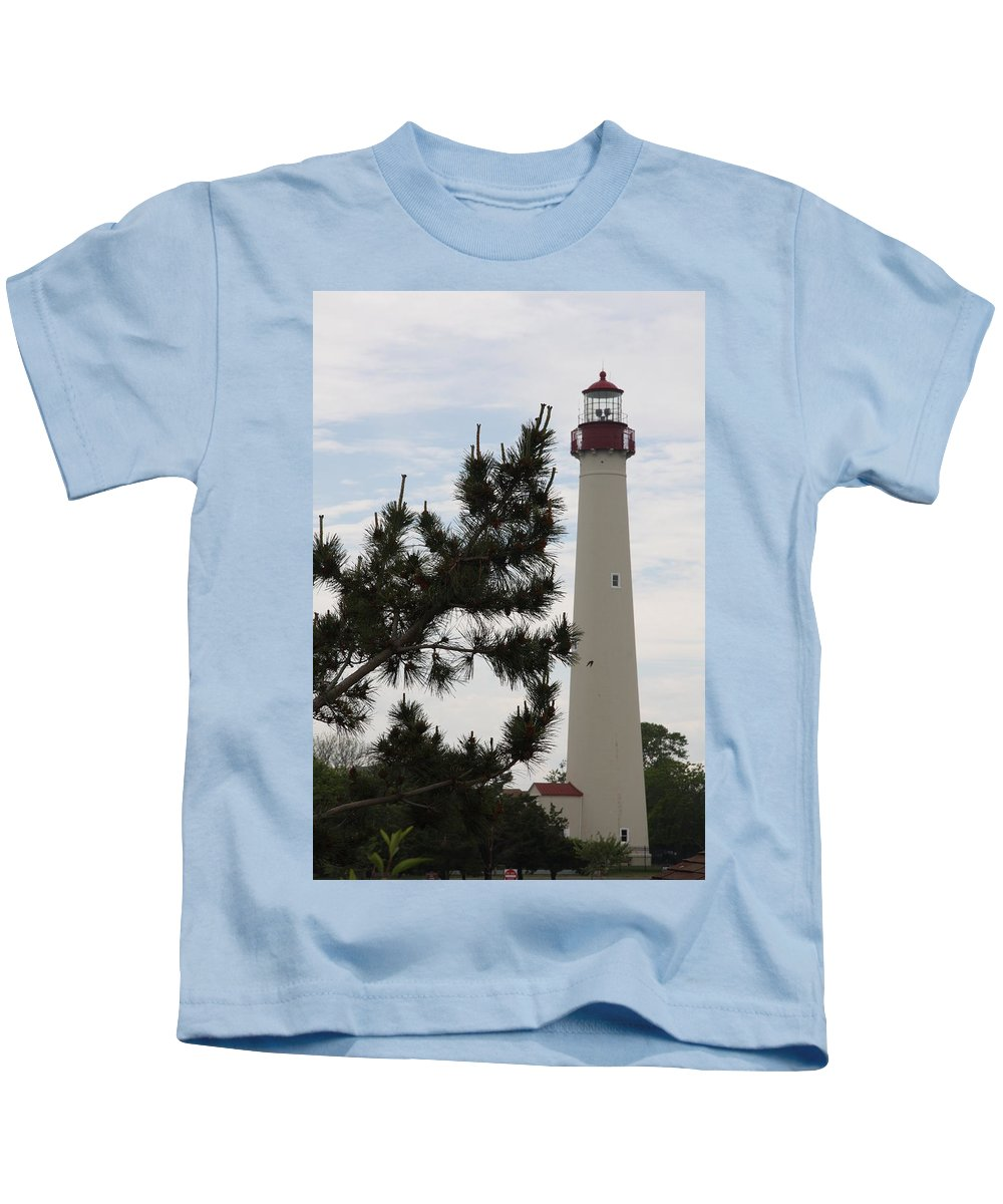 Lighthouse Kids T-Shirt featuring the photograph Cape May Lighthouse by Christiane Schulze Art And Photography