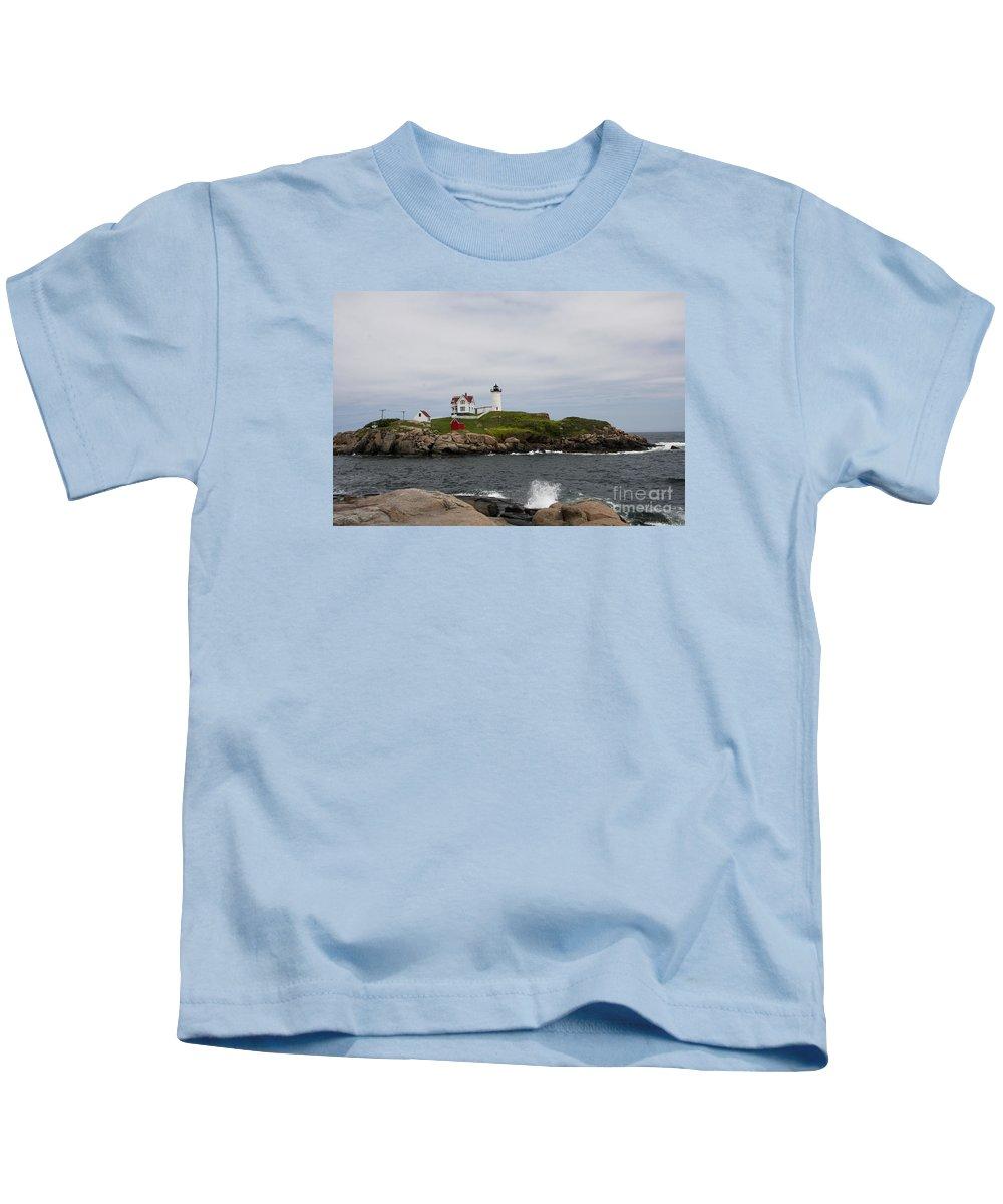 Cape Neddick Nubble Light Kids T-Shirt featuring the photograph Cape Neddick - Nubble Lighthouse by Christiane Schulze Art And Photography
