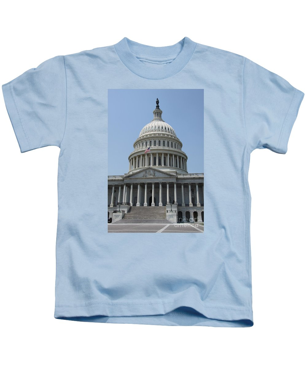 Cupola Kids T-Shirt featuring the photograph Capitol Washington Dc by Christiane Schulze Art And Photography