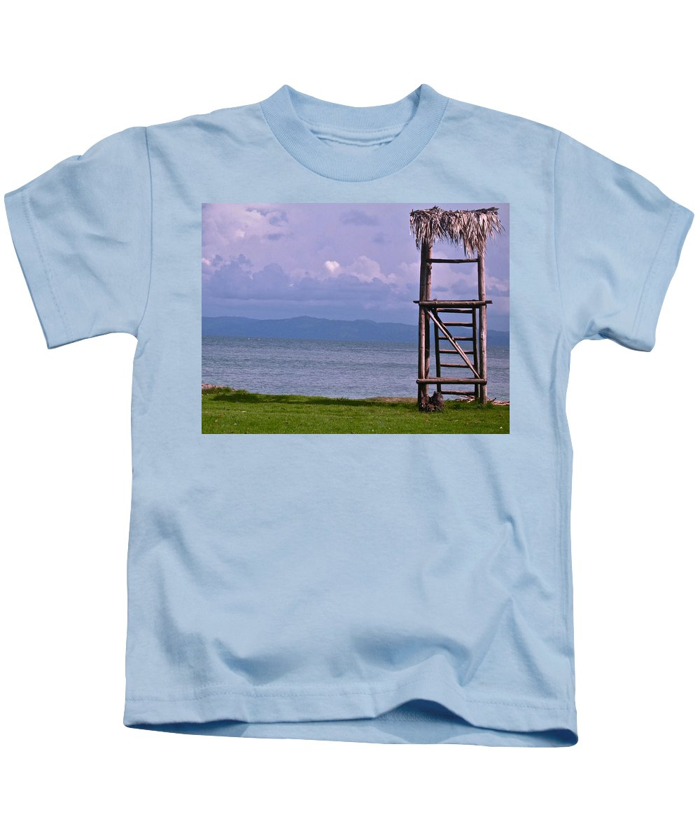 Caribbean Kids T-Shirt featuring the photograph Caribbean Lifeguard by Lexi Heft