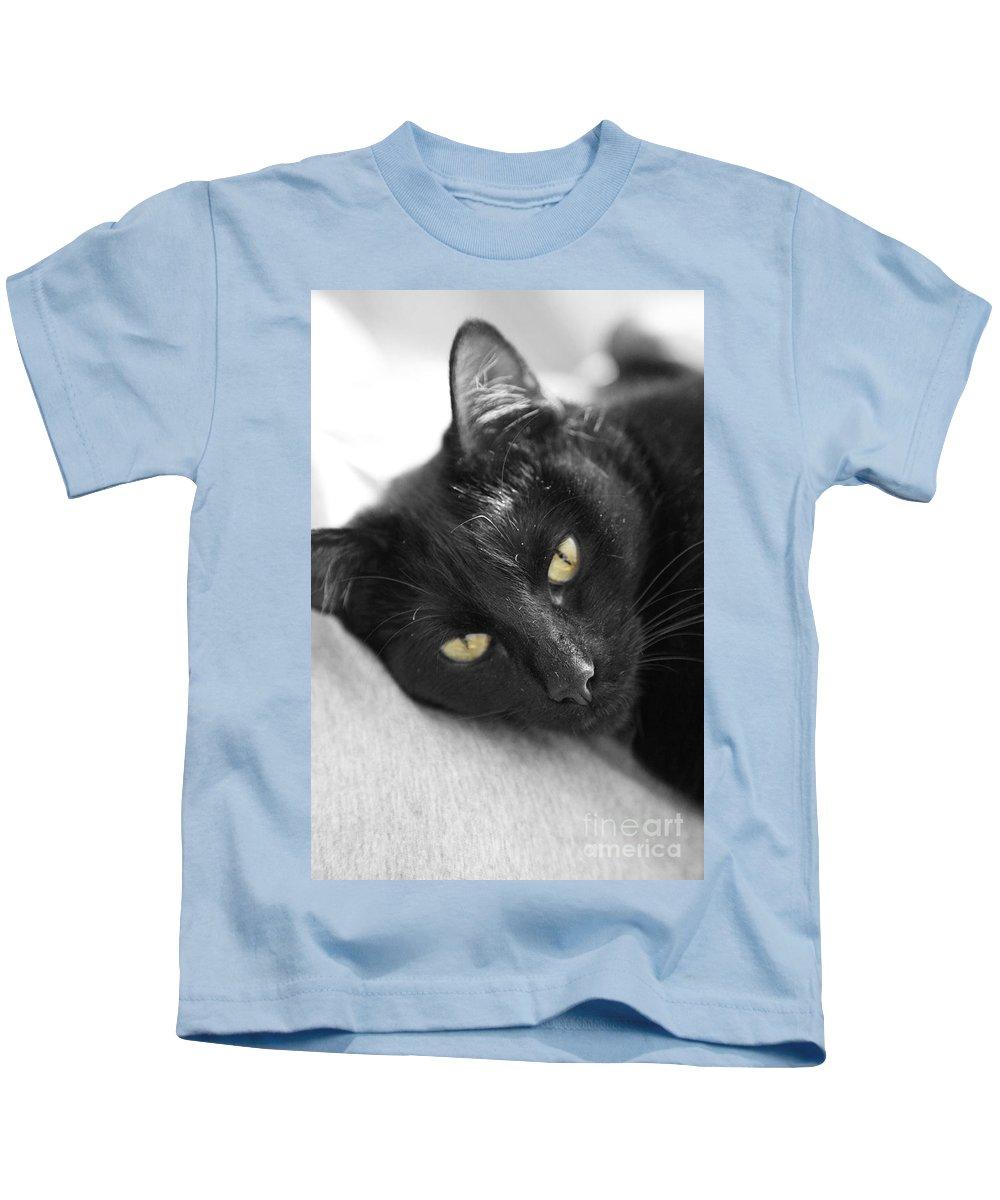 Caspian Kids T-Shirt featuring the photograph Caspian by Amanda Barcon
