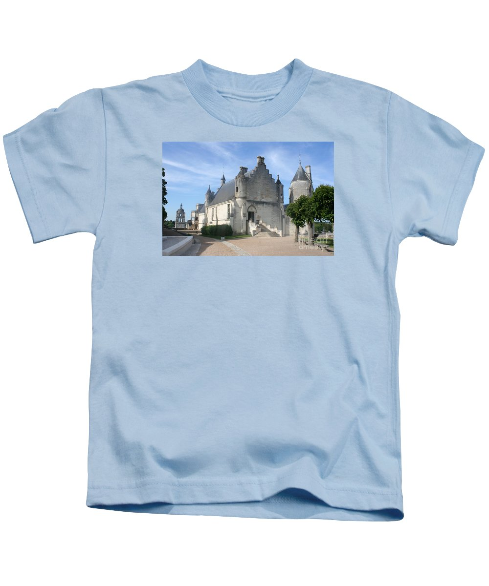 Castle Kids T-Shirt featuring the photograph Castle Loches - France by Christiane Schulze Art And Photography
