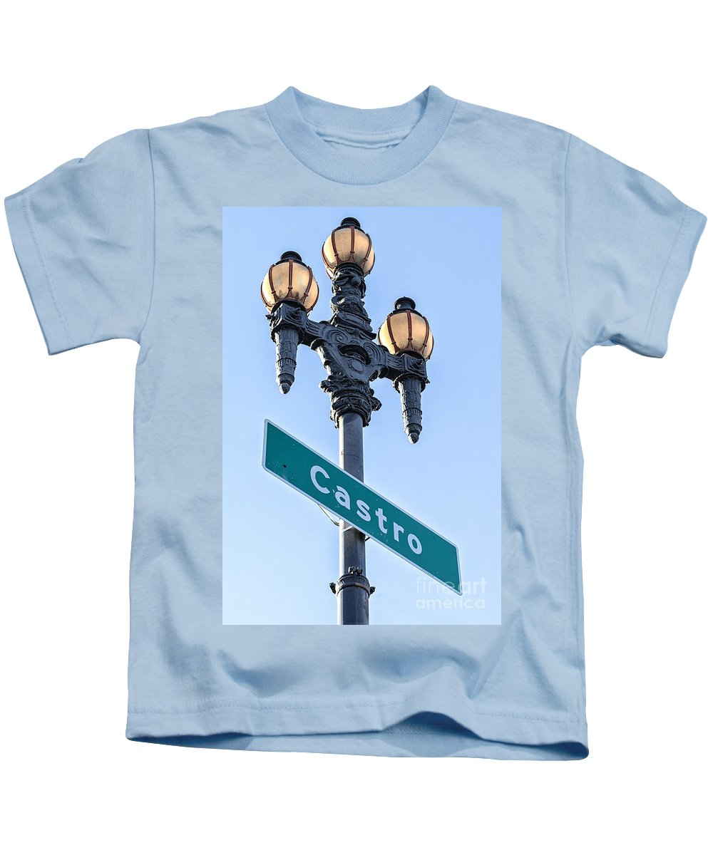 San Francisco Kids T-Shirt featuring the photograph Castro Lightpole by Jerry Fornarotto