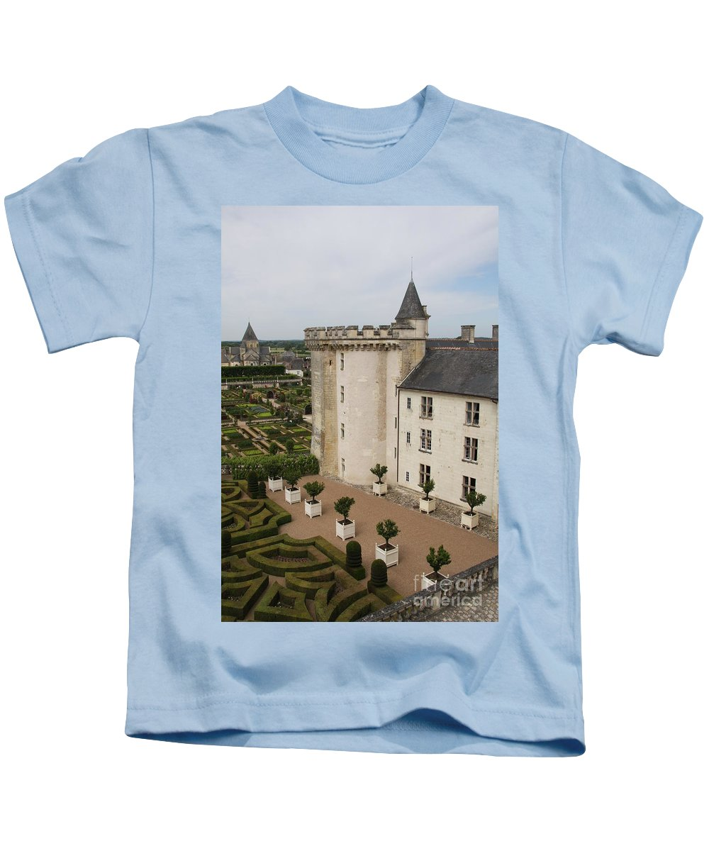 Palace Kids T-Shirt featuring the photograph Chateau And Garden - Villandry by Christiane Schulze Art And Photography