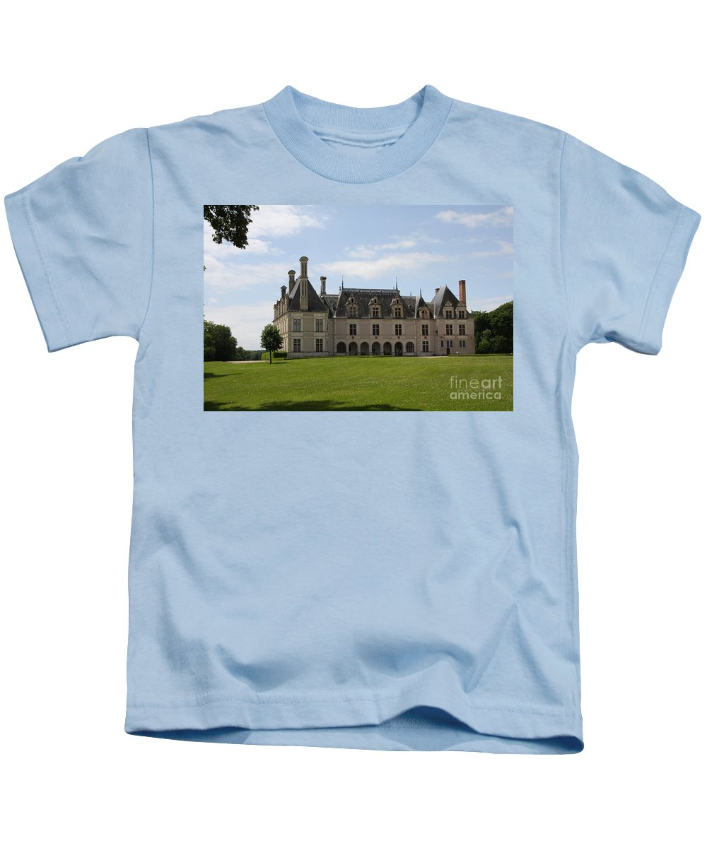 Palace Kids T-Shirt featuring the photograph Chateau Beauregard Loire Valley by Christiane Schulze Art And Photography