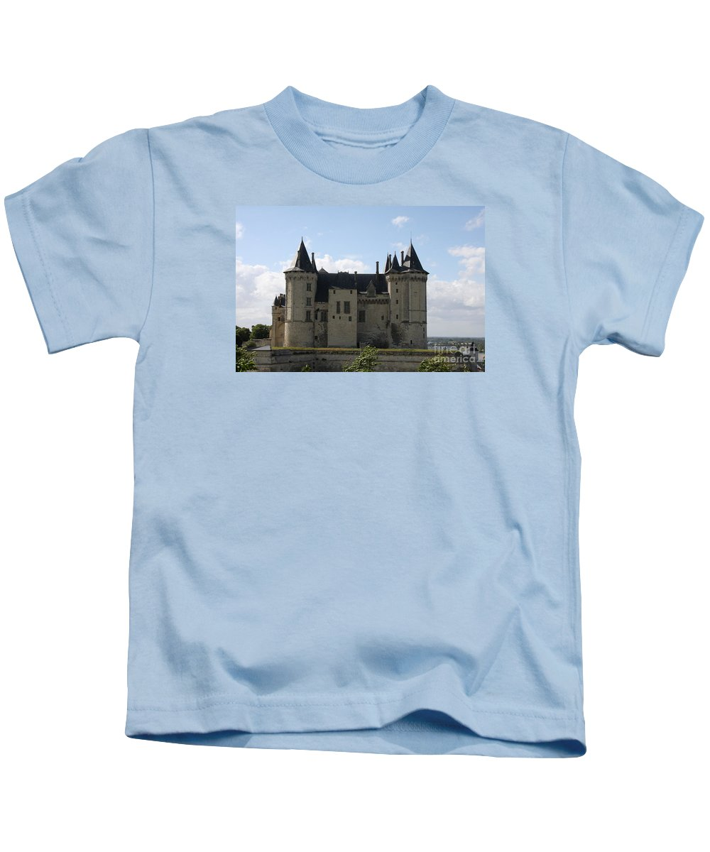 Castle Kids T-Shirt featuring the photograph Chateau Saumur - France by Christiane Schulze Art And Photography