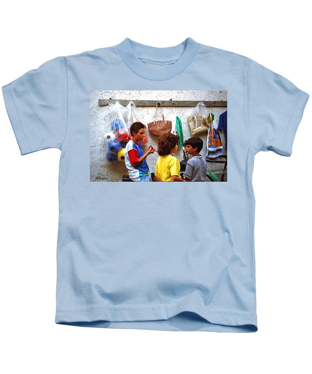 Cherda Kids T-Shirt featuring the digital art Cherda Children by John Vincent Palozzi