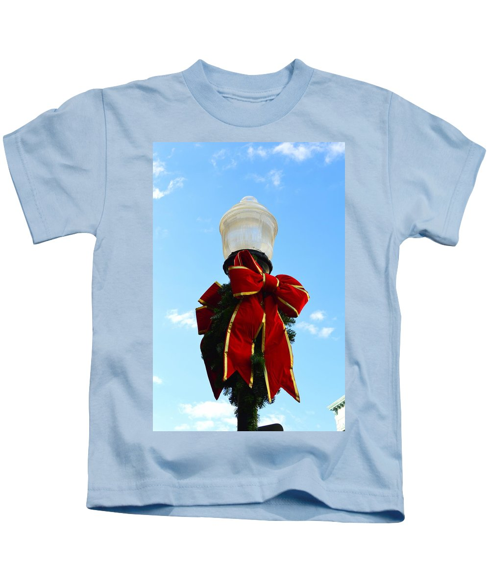 Christmas Kids T-Shirt featuring the photograph Christmas Decorations by Linda Covino