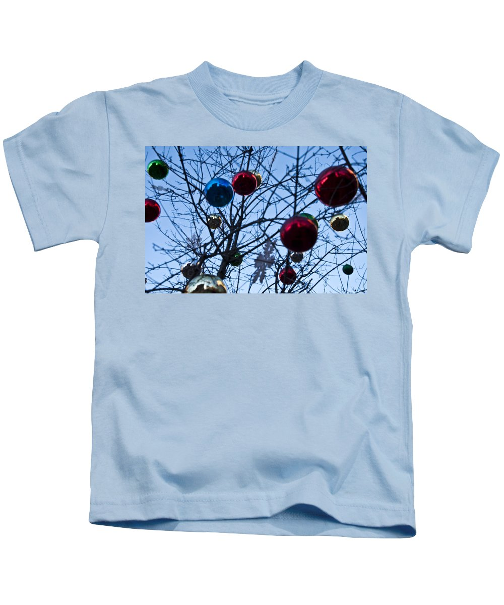 Christmas Is Looking Up This Year Kids T-Shirt featuring the photograph Christmas Is Looking Up This Year by Bill Cannon