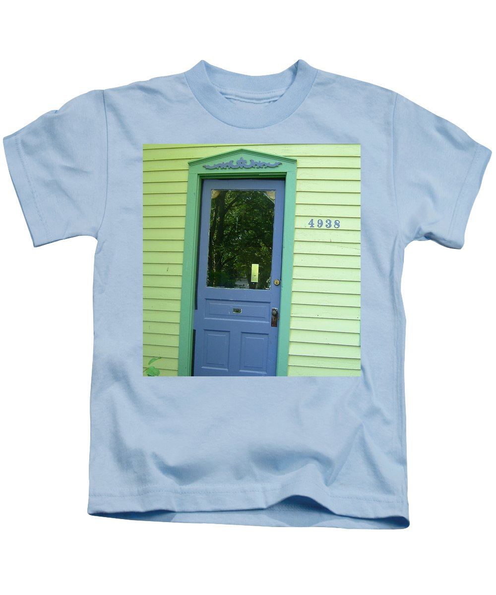 Door Kids T-Shirt featuring the photograph Classy Farmhouse Door by Susan Wyman