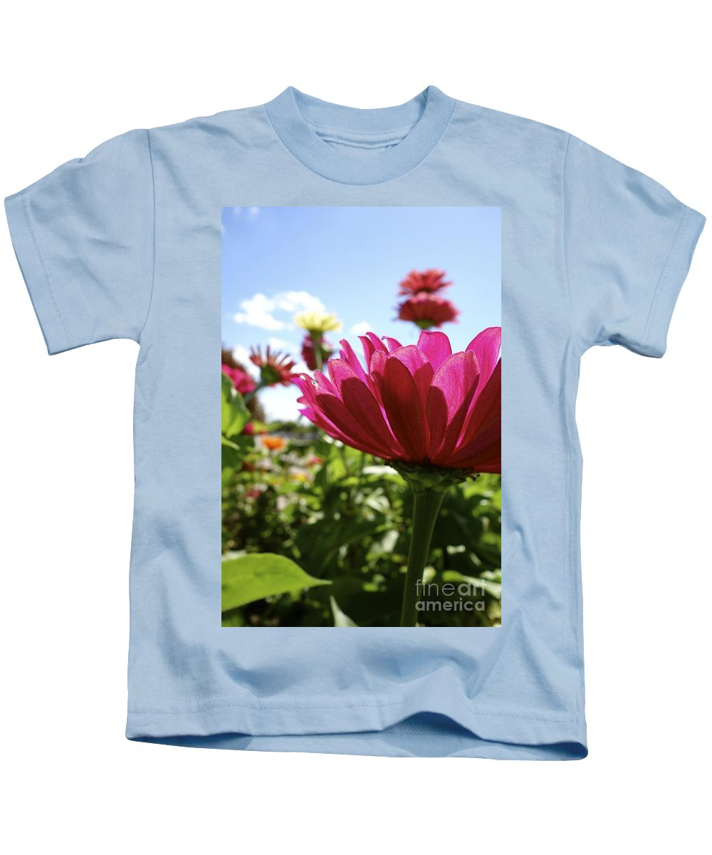 Flowers Kids T-Shirt featuring the photograph Close Among Them by Jacqueline Athmann