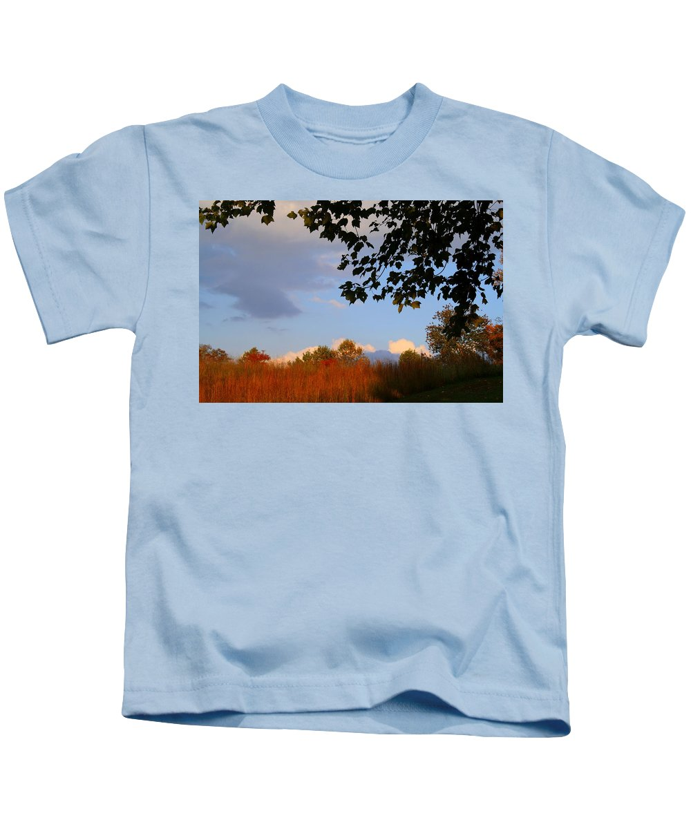 Sunset Kids T-Shirt featuring the photograph Clouds Clearing by Kathryn Meyer