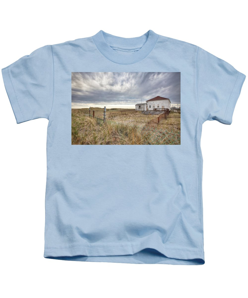 Coast Guard Kids T-Shirt featuring the photograph Coast Guard Station by Eric Gendron
