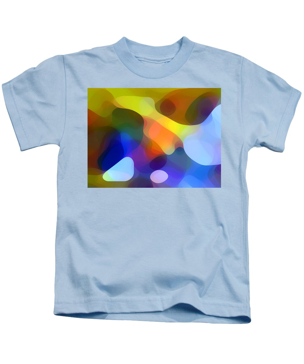 Bold Kids T-Shirt featuring the painting Cool Dappled Light by Amy Vangsgard