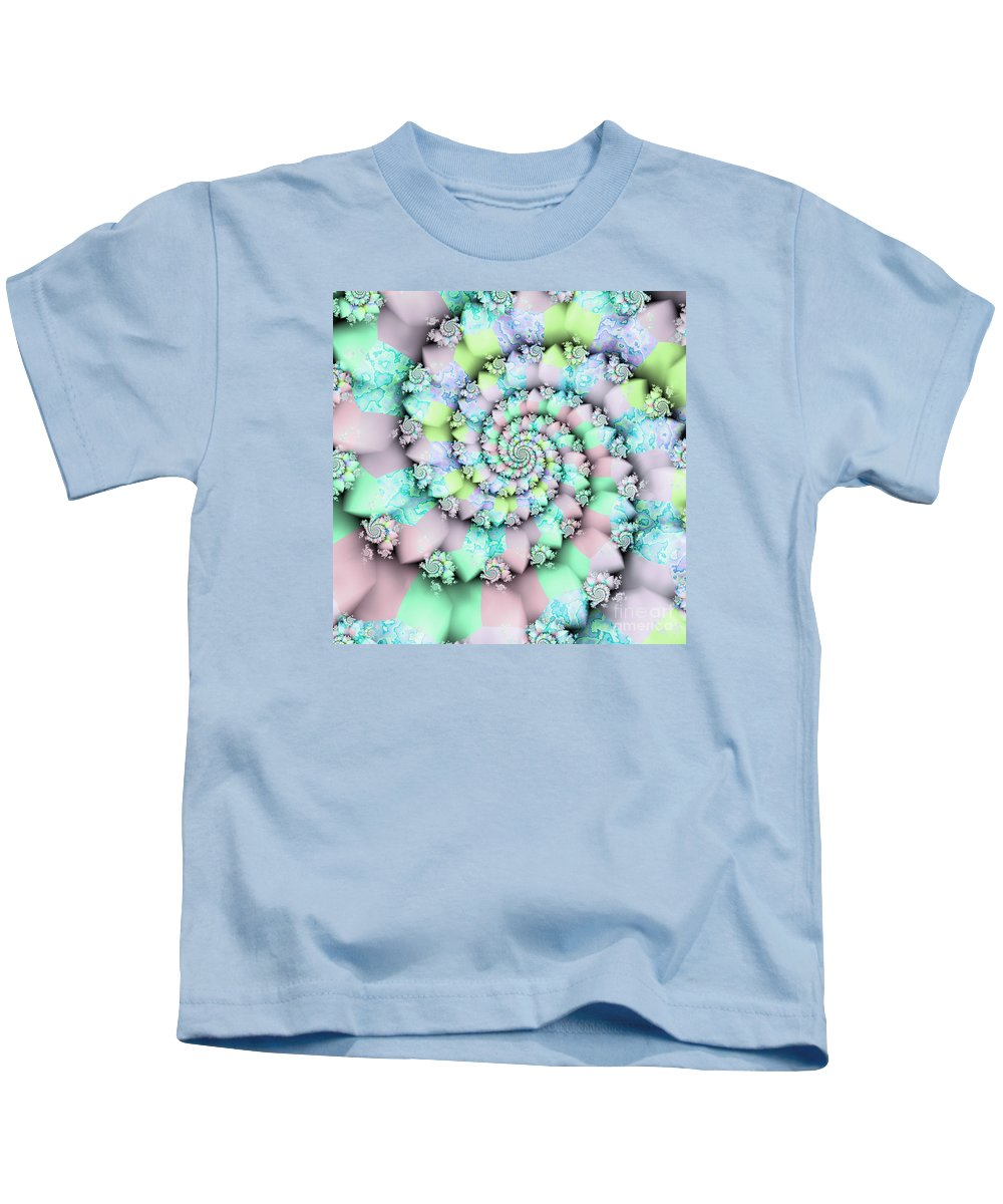 Cotton Candy I Kids T-Shirt featuring the digital art Cotton Candy I by Kimberly Hansen