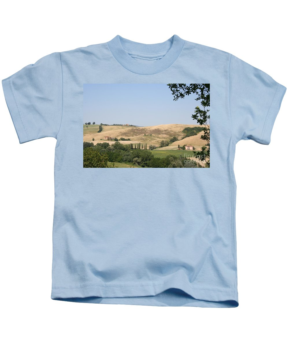 Landscape Kids T-Shirt featuring the photograph Crete Senesi by Christiane Schulze Art And Photography