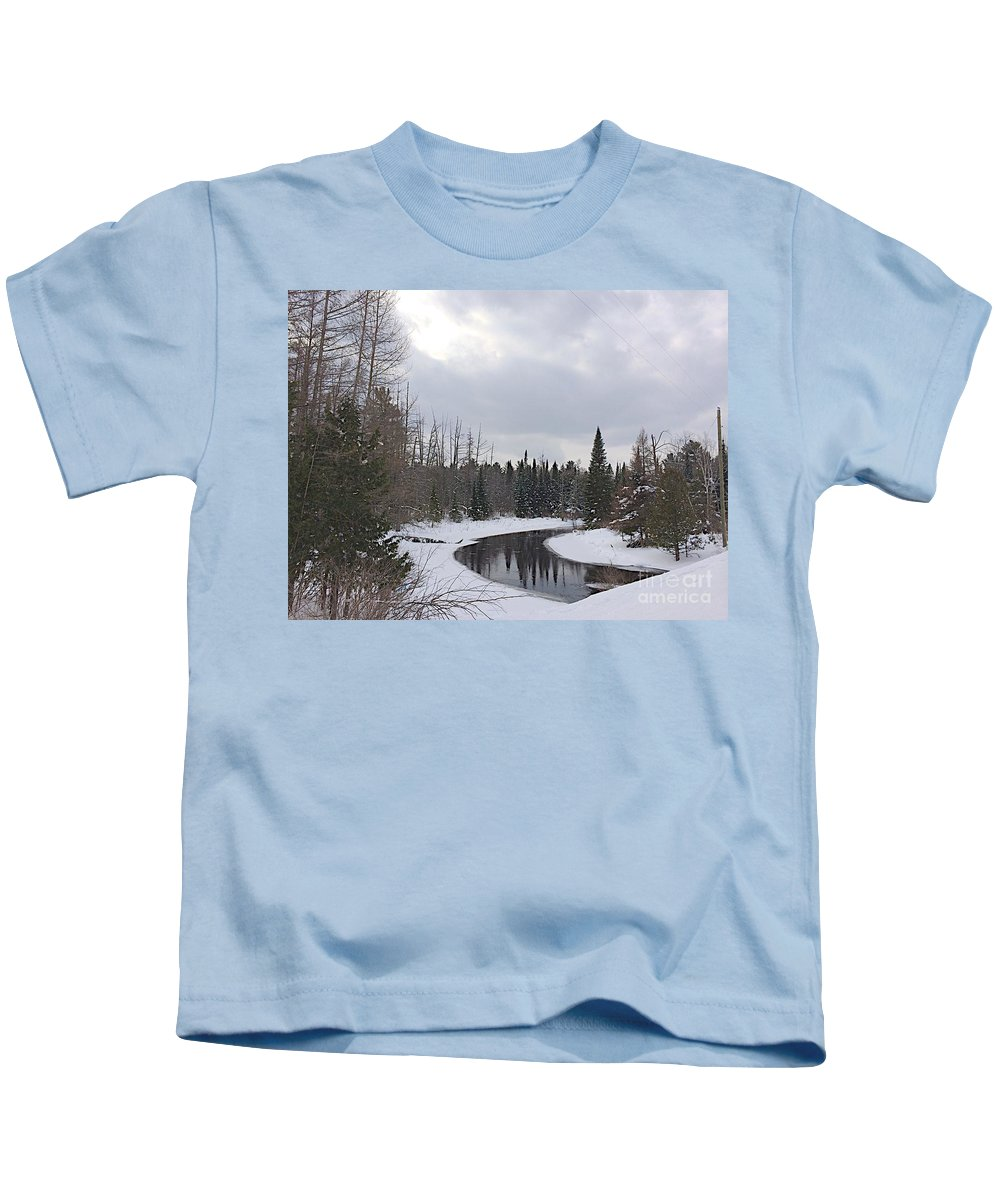 Jordan River Kids T-Shirt featuring the photograph Crossing.jpg by Joseph Yarbrough