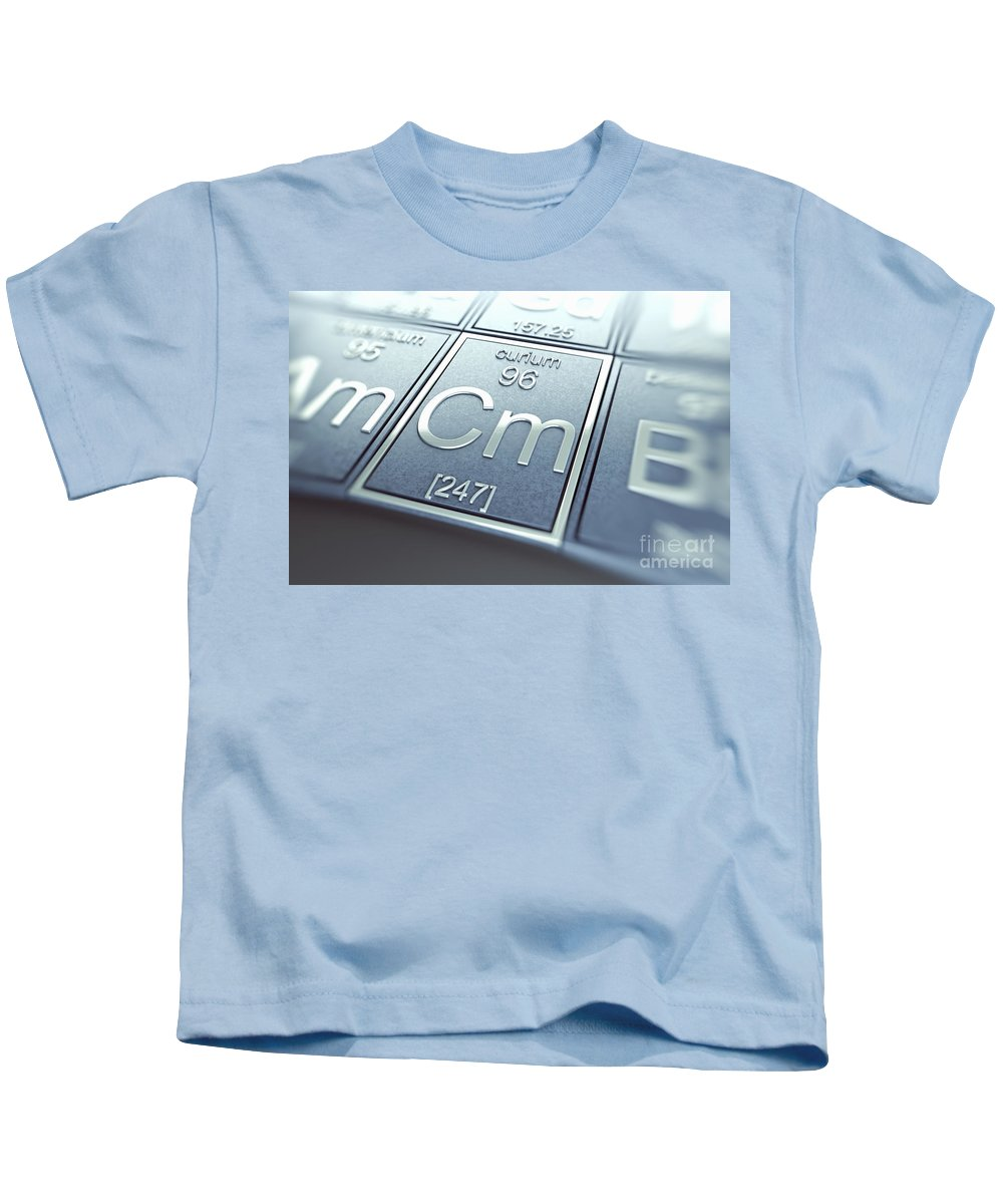 Atomic Number Kids T-Shirt featuring the photograph Curium Chemical Element by Science Picture Co
