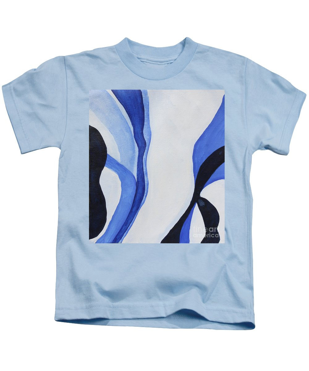 Dancing The Blues Kids T-Shirt featuring the painting Dancing The Blues by Christine Dekkers