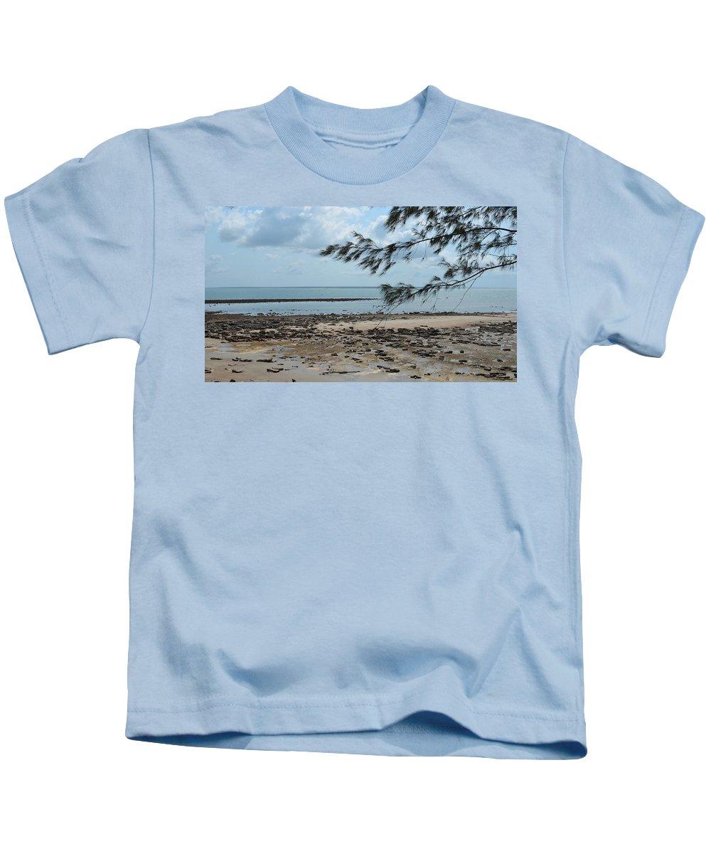 Darwin Kids T-Shirt featuring the photograph Fannie Bay 1.3 by Cheryl Miller