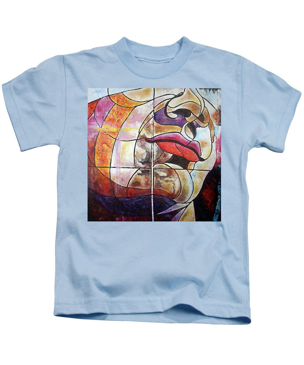 Face Kids T-Shirt featuring the painting David by Karina Llergo