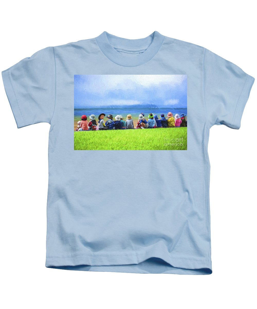 Children Kids T-Shirt featuring the photograph Day at the beach by Sheila Smart Fine Art Photography