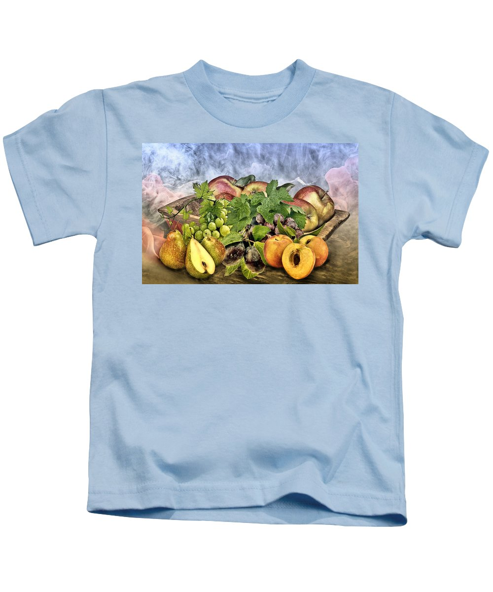 Nutrition Kids T-Shirt featuring the photograph Harvest by Manfred Lutzius