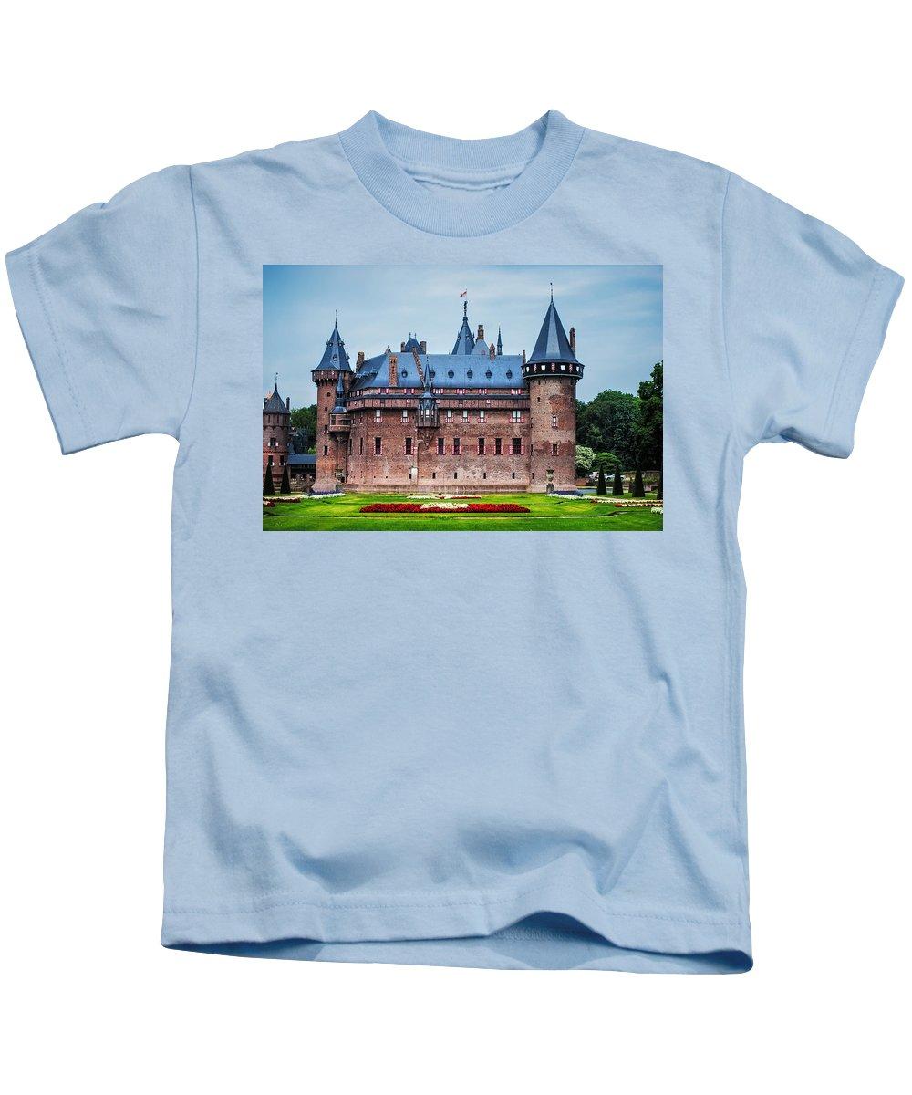 Utrecht Kids T-Shirt featuring the photograph De Haar Castle. Utrecht. Netherlands by Jenny Rainbow