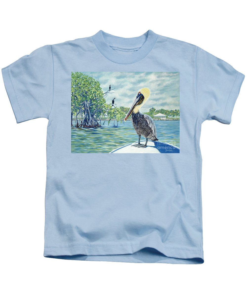 Key Largo Kids T-Shirt featuring the painting Down In The Keys by Danielle Perry