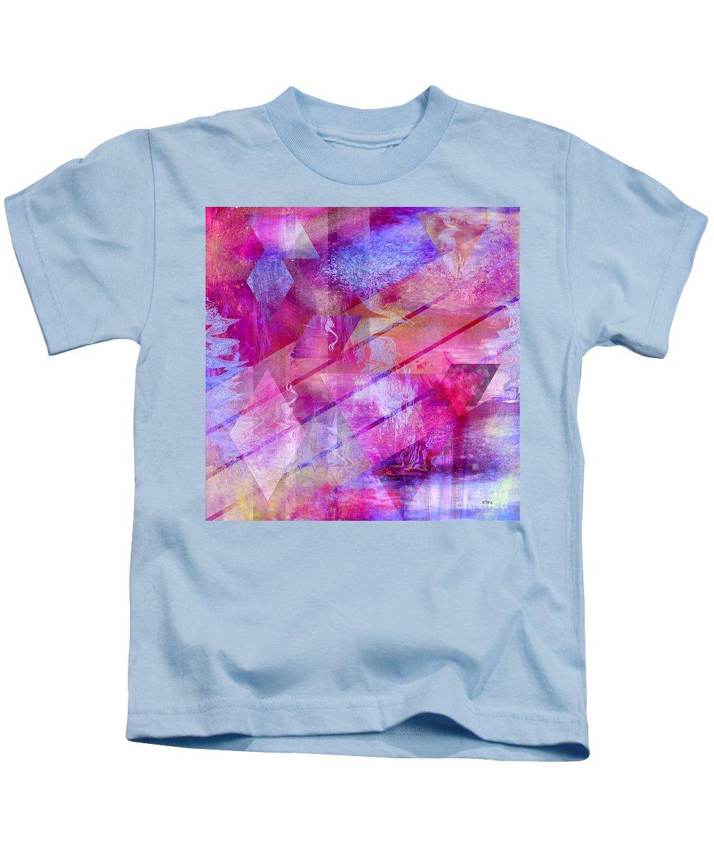 Dragon's Kiss Kids T-Shirt featuring the digital art Dragon's Kiss - Square Version by John Robert Beck