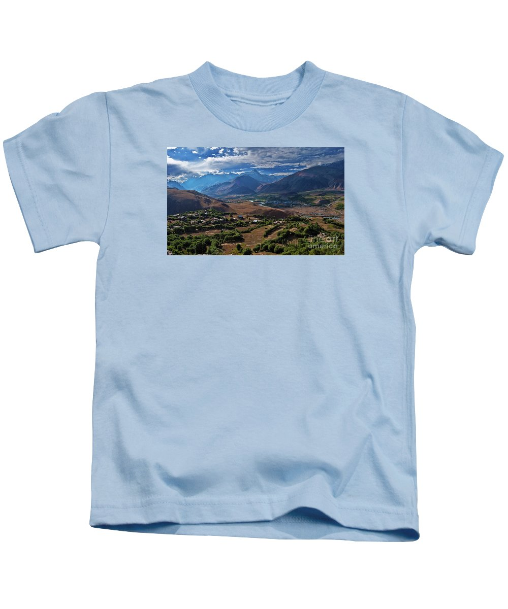 Drass Kids T-Shirt featuring the photograph Drass... by Nina Stavlund