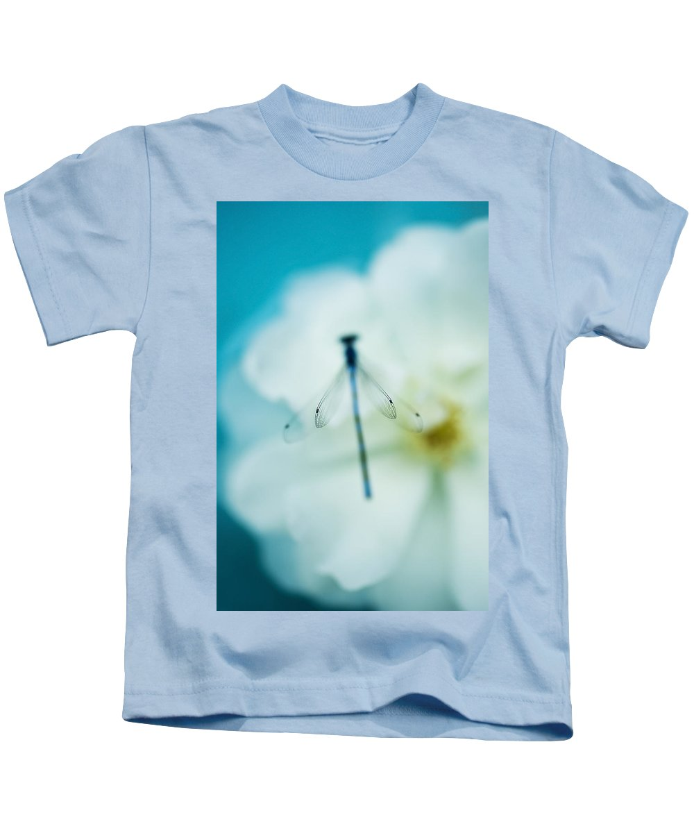 Dragonfly Kids T-Shirt featuring the photograph Dreamy Dragonfly Wings by Beth Riser