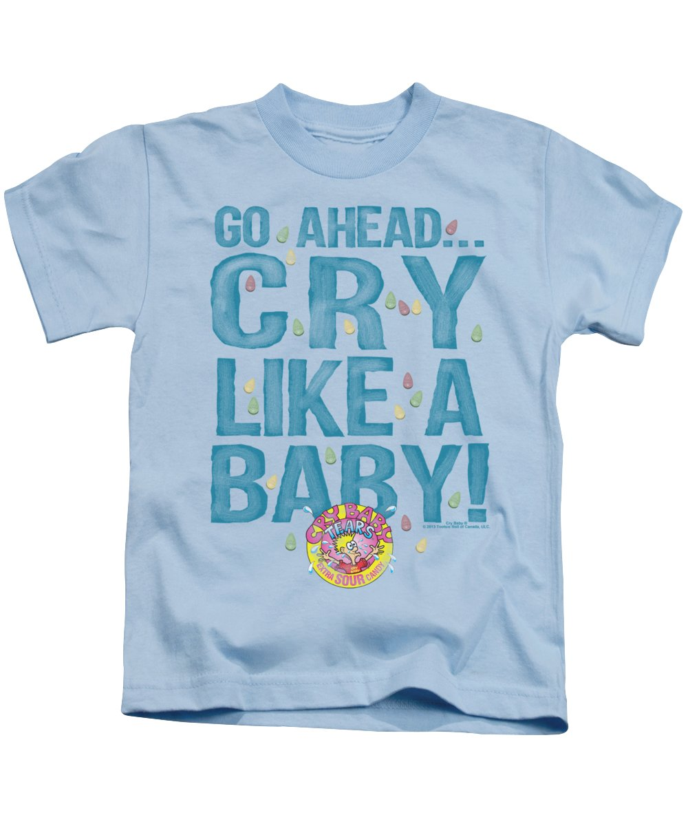 Dubble Bubble Kids T-Shirt featuring the digital art Dubble Bubble - Cry Like A Baby by Brand A