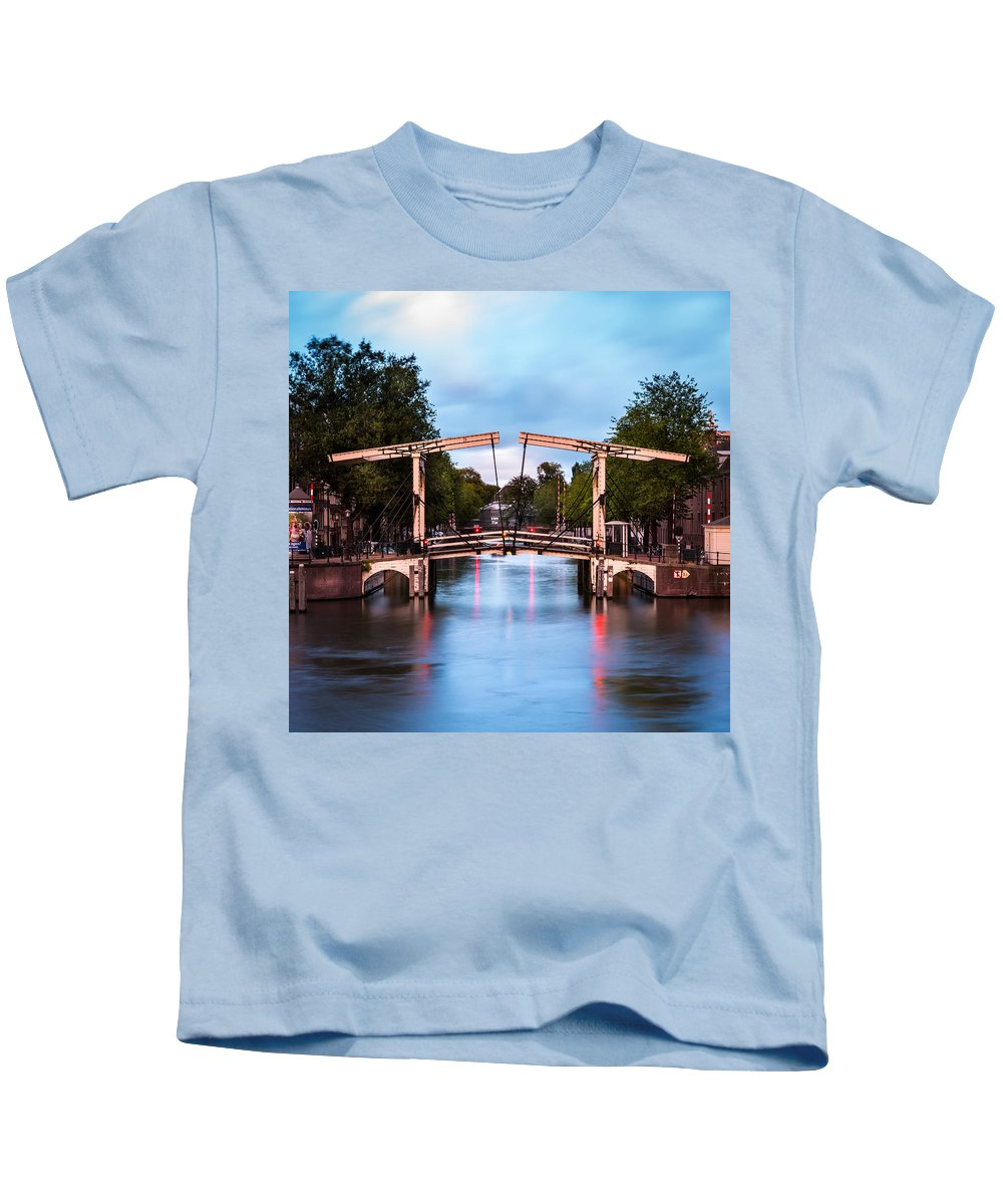 Nl Kids T-Shirt featuring the photograph Dutch Bridge by Mihai Andritoiu