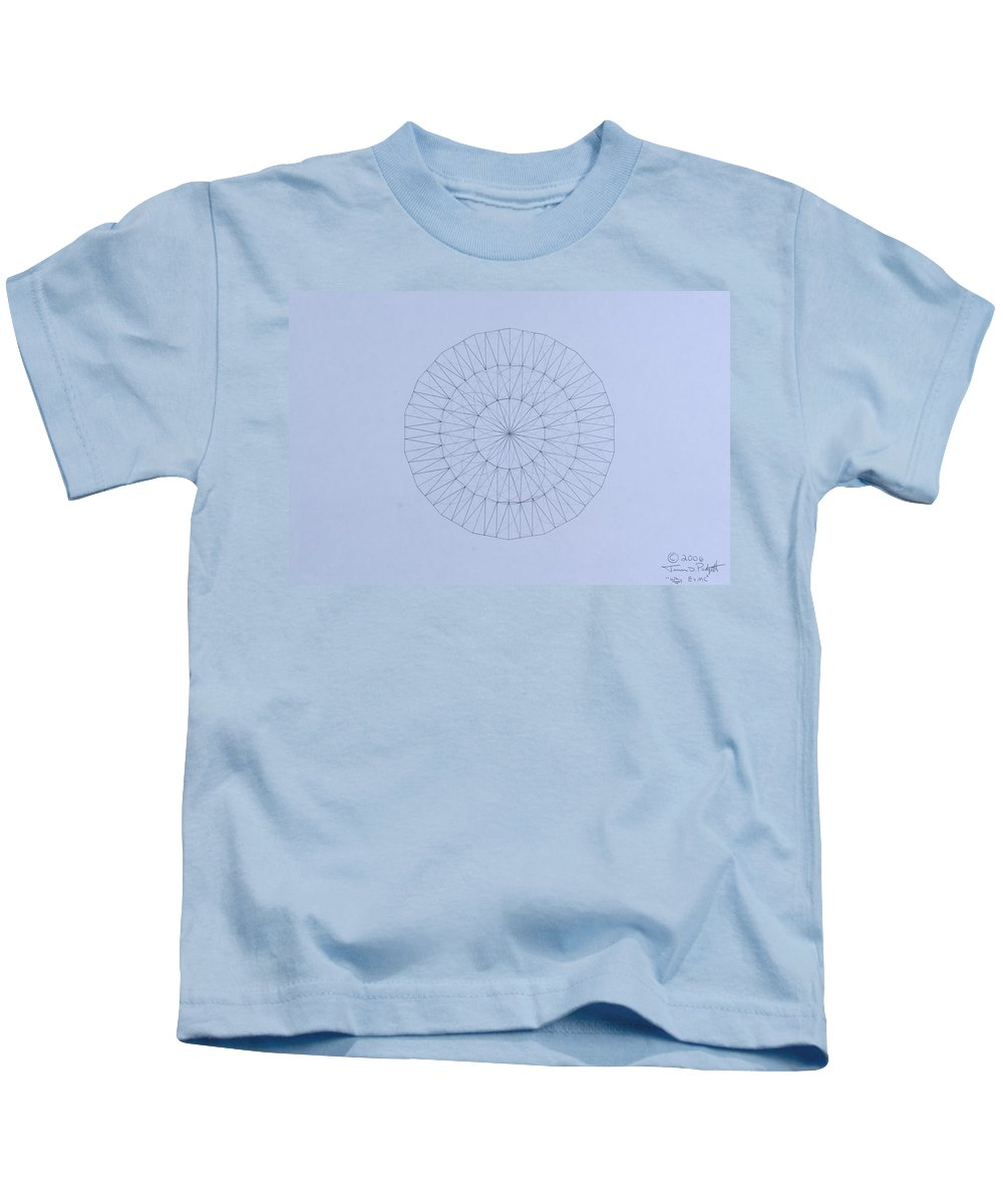 Jason Padgett Kids T-Shirt featuring the drawing Energy Wave 20 Degree Frequency by Jason Padgett