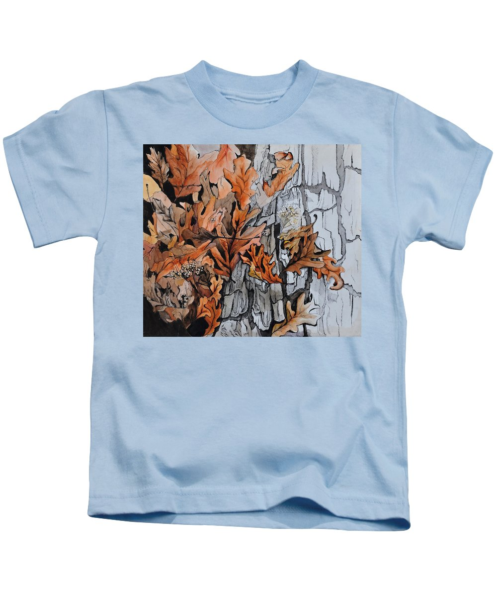 Abstract Kids T-Shirt featuring the painting Eruption I by William Russell Nowicki