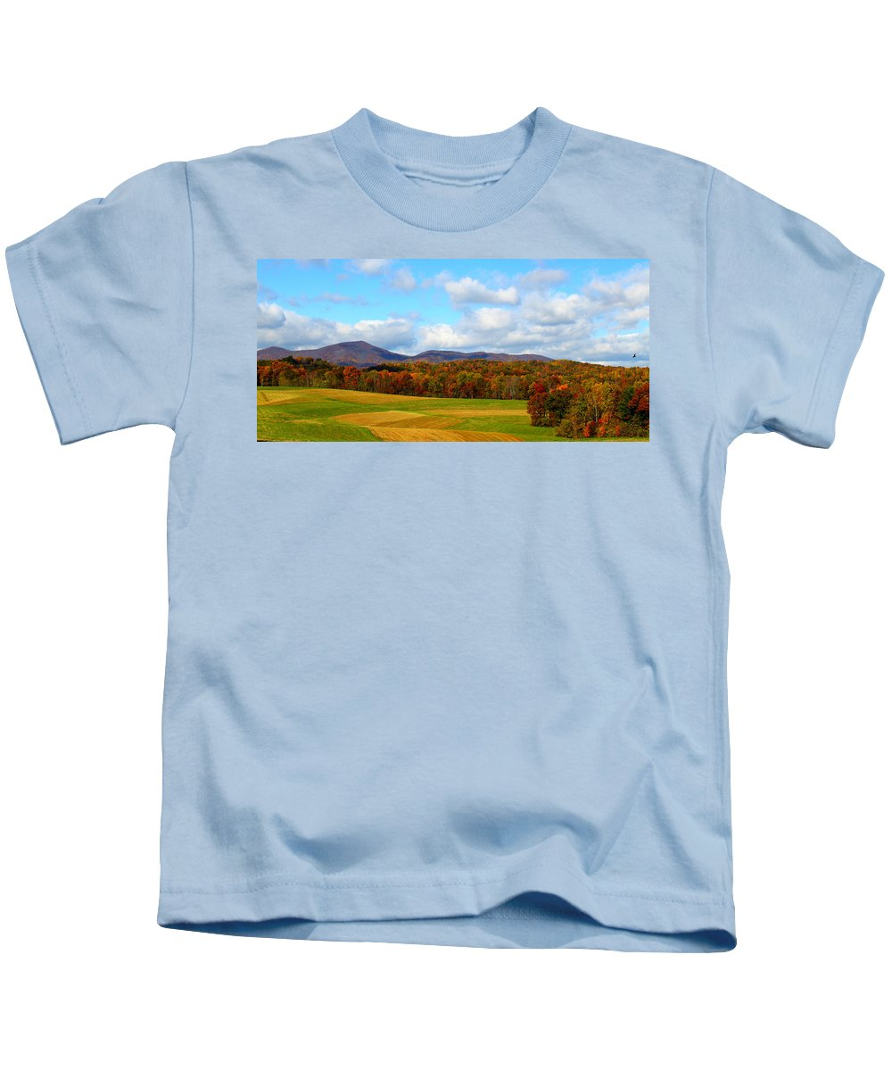 Fall Kids T-Shirt featuring the digital art Fall In Rocky Mount by Tina Meador