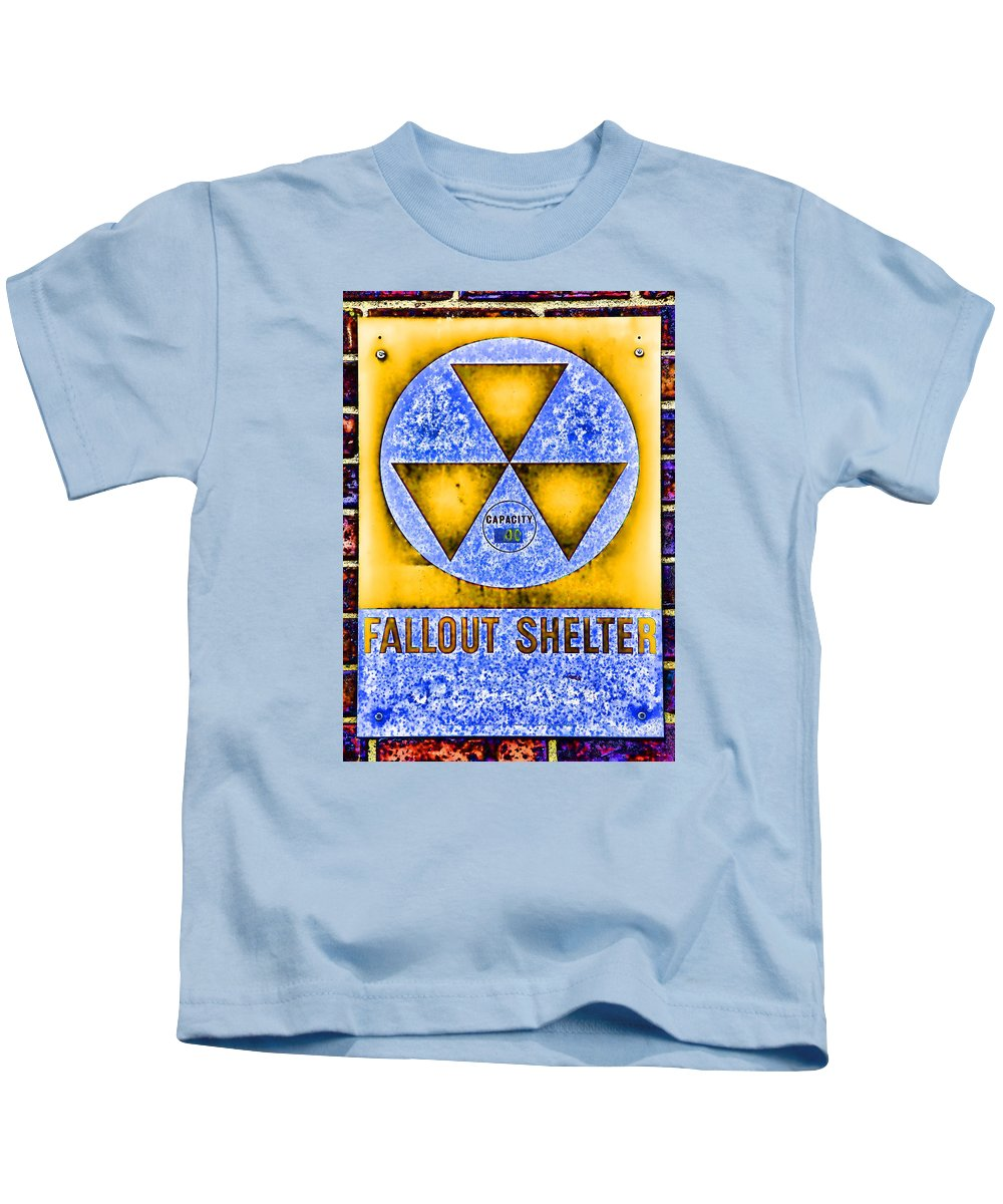 Fallout Kids T-Shirt featuring the photograph Fallout Shelter Wall 3 by Stephen Stookey