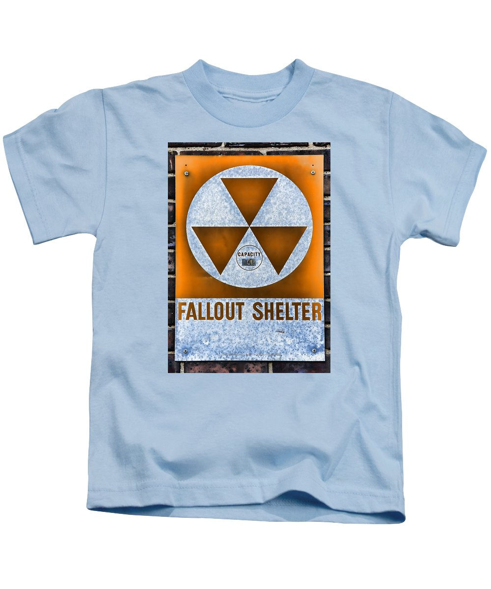 Fallout Kids T-Shirt featuring the photograph Fallout Shelter Wall 8 by Stephen Stookey