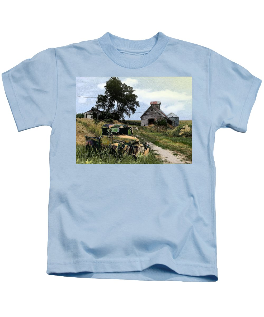 Farm Kids T-Shirt featuring the photograph Farmed Out by John Anderson