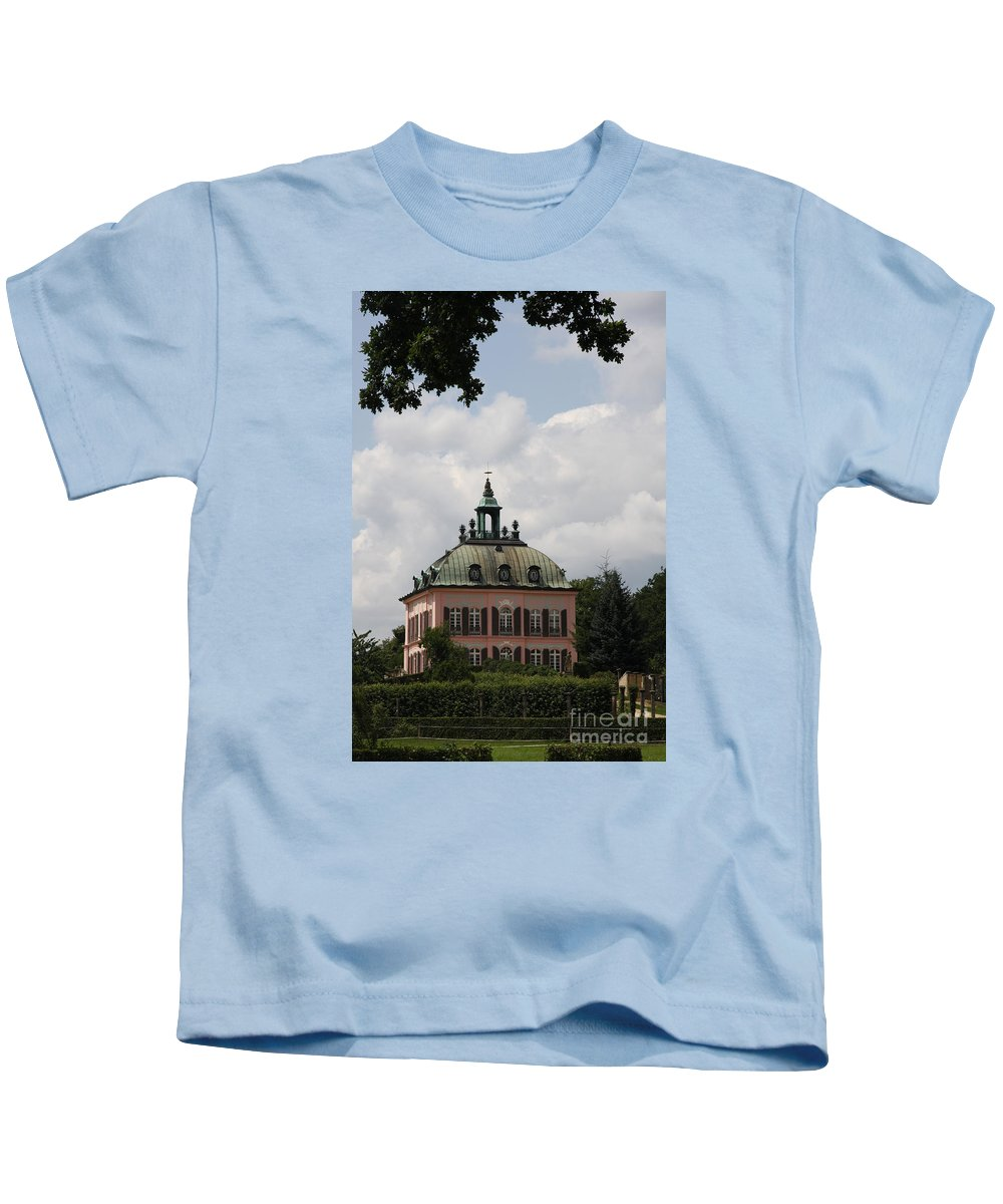 Palace Kids T-Shirt featuring the photograph Fasanen Schloesschen Germany  Pheasant Palace by Christiane Schulze Art And Photography