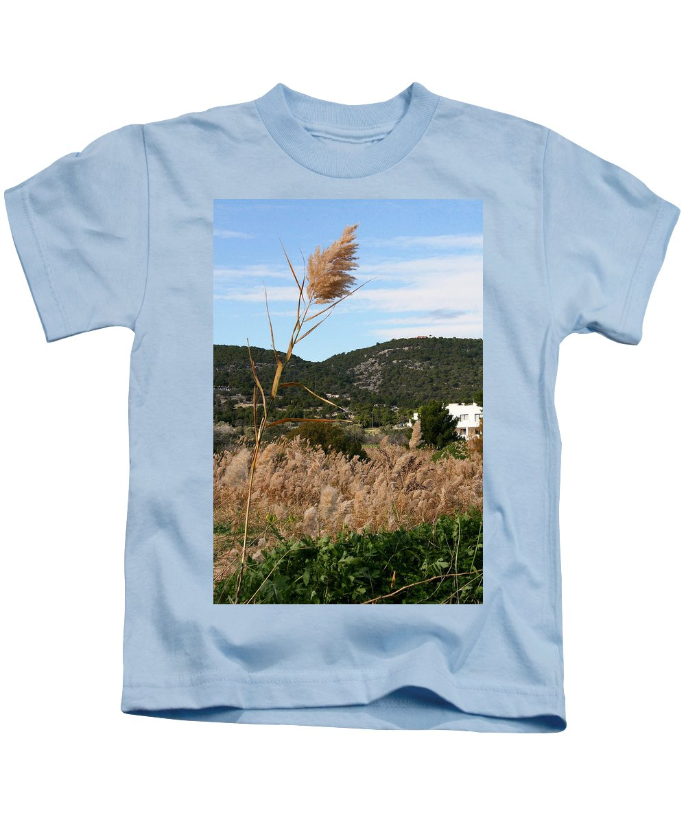 Kids T-Shirt featuring the photograph Fields by Alexandros Petrides